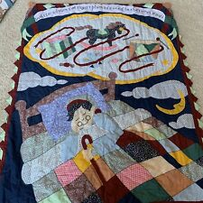 Primitive Patchwork Throw Blanket  All Snug in Their Beds Quilt American Hometex