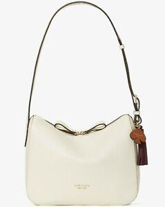Kate Spade Anyday Medium Shoulder Bag Cream Leather PXR00248 White NWT $298 FS