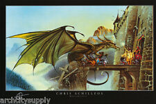 Poster : Fantasy: Dragonspell by Chris Achilleos - Free Ship ! #2086 Rap127 B