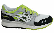 Asics Gel-Lyte III White Green Lace Up Mens Leather Trainers H307N 0101 B78D