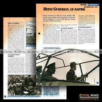 #vm007.12 ★ LE GENERAL HEINZ GUDERIAN WW2 1939-1945 ★ Fiche Véhicule Militaire