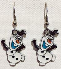 Olaf Earrings Disney Frozen Surgical Hooks New
