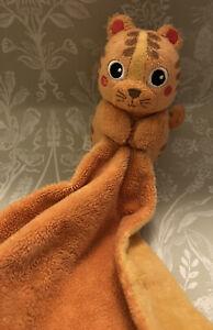 Wilko Tiger Comforter Soother Blankie Blanket Soft Toy Plush Cat Orange Used 🐱