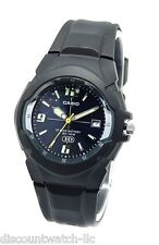 Casio MW600F-2A Men's Black Resin Band Blue Dial 100M Analog HD Series Watch