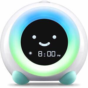 LittleHippo Mella Ready to Rise Children's Trainer, Alarm Clock, Night Light Sle