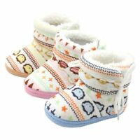 Toddler Newborn Baby Boy Girl Warm Snow Boots Infant Faux Fur Slipper Crib Shoes