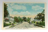 Cedarhurst Long Island New York Oakwood Avenue Vintage Postcard