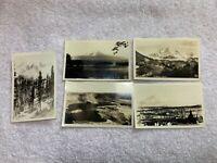 Lot of 5 Old Mt. Rainier Tacoma Area Real Photo Postcards By Ellis RPPC