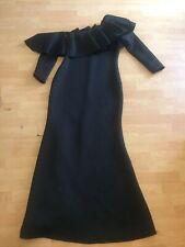 Sexy Diva Black Off Shoulder Ruffle Gown Maxi Dress Sz 1X Long Sleeve Plus Curvy