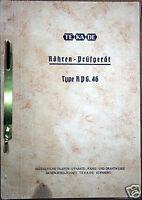 Bedienungsanweisung: Rohren-Prüfgerät TE-KA-DE Type: RPG. 46