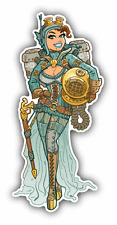 "Steampunk Undersea Diver Explorer Sexy Car Bumper Sticker Decal 3"" x 6"""