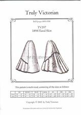 sewing pattern for 1898 Victorian flared skirt Truly Victorian TV297 new uncut