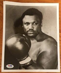 Boxing JOE FRAZIER Autograph Signed 8x10 B&W Photo PSA/DNA COA