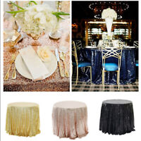 Luxury Round Glitter Sequin Tablecloth Table Cover Wedding Party Banquet Deco
