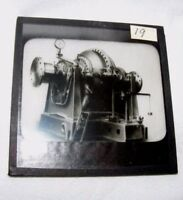 VINTAGE MAGIC LANTERN SLIDE OF STEAM TURBINE? MACHINERY MECHANICAL STEAMPUNK