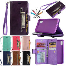 Luxury Leather Flip Zipper Wallet Case Card Stand Cover For iPhone 6s 7 8 Plus X