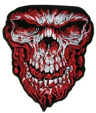 JUMBO EMBROIDERED BLOODY SKULL HEAD FACE BIKER PATCH JBP086 11 INCH NEW patches