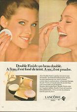 Publicité Advertising 1982  Double finish de LANCOME fond de teint