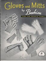 Vintage Beehive GLOVES & MITTS Knitting Pattern Book PUPPET MITTS for Children
