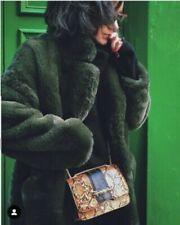 Zara Faux Fur Outer Shell Green Coats, Jackets & Waistcoats for Women