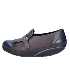 women's shoes MBT 6 / 6,5 (EU 37) loafers gray blue leather AC129-B