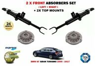 FOR BMW GT 2009->NEW 2 X FRONT SHOCK ABSORBER SET + 2X TOP MOUNTINGS