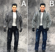 "1/12 Scale Male Soldier Clothes Shirt&Short Sleeve&Jeans Suit 2 Styles F 6"" Body"