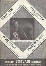 SULLE ALPI - ORCHIDEA - FIORI ROSSI - MAZURKA ABIS # SPARTITO - Fisarmonica