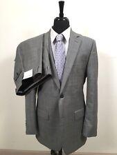 Pronto Uomo Gray Wool Shark Skin Suit Men's 42L size 42 L Flat Front Pants 36x32