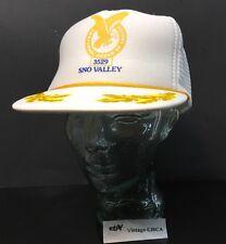 VINTAGE FRATERNAL ORDER EAGLES - SNO VALLEY 3529 Hat Cap Snapback Scrambled Egg