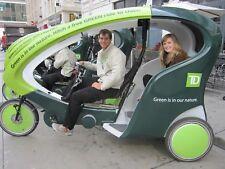 Pedicab Rickshaw Veloform Electric Battery assist Bicycle taxi City Cruiser II
