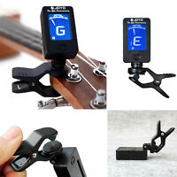 Mini Clip-On Digital LCD Chromatic Guitar Bass Ukulele Banjo Violin Tuner
