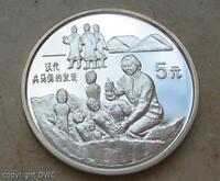 Münze 5 yuan China 1993 Terrakotta - Figuren in aus 900 Silber Münzen .