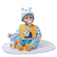 Reborn Toddler Dolls Handmade Lifelike Baby Silicone Newborn Doll With Clothes