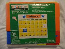 Creatology Giant Foam Calendar Activity Kit for Kids 72 Pcs NEW