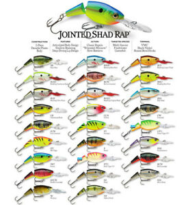 Rapala Jointed Shad Rap // JSR05 // 5cm 8g Fishing Lures (Choice of Colors)