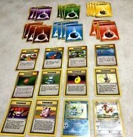Vintage Pokemon Card Lot 1990s Pocket Monsters + Energy Playsets Lot of (36) Exc