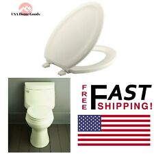 Biscuit Elongated Closed Front Toilet Seat W/ Plastic Hinge Molded Lid Cover