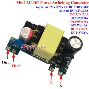AC-DC Converter 110V 220V 230V to 5V 9V 12V 15V 24V Power Switching Transformer