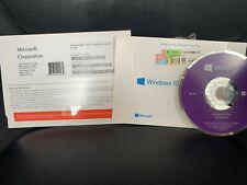 Microsoft Windows 10 Professional 64 bit install dvd w/ product key pro genuine