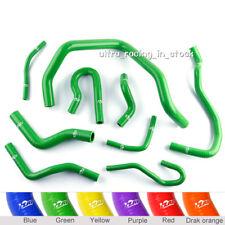 Fit HONDA CIVIC D15 D16 SOHC EG/EK 92-00 Silicone Radiator Hose Green 9PCS -ZAP