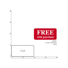 """Custom Printed Stickers,  2,000 Rectangular 1"""" x 2""""  Business Labels 1 Ink Color"""