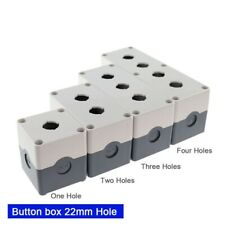 22mm Hole Emergency Stop Push Button Switch Box Waterproof Plastic Control Box