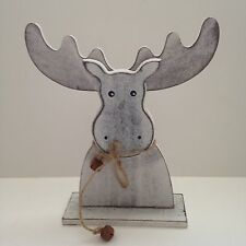 Christmas Shabby Chic Decorative Wooden Standing Moose