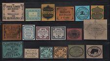 "1850-1950 - GlobalWorld U.S. ""Local Post & Dispatch Stamps"" Set (18) GW Phantoms"