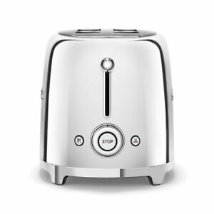 SMEG TSF01SSUK 2 slice toaster new