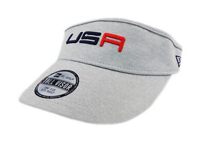 NEW 2018 New Era USA Ryder Cup Tall Visor Grey Friday Round Adjustable Visor