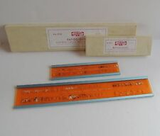"""KOH-I-NOOR Rapido-Guides Lot 2 3030 5/32"""" for No. 0 & 3032 ¼"""" for No. 2 w/ Box"""