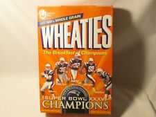 2002  Super Bowl Champions New England Patriots Wheaties box Unopened