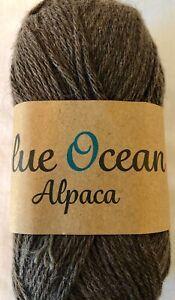 Blue Ocean Alpaca DK weight yarn color 26 Brown
